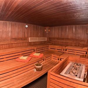 Innenraum Sauna/Saunabänke